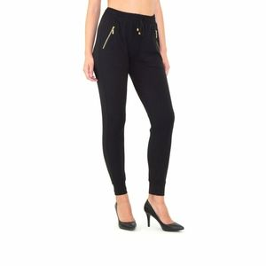 Indero Women's Trendy Style Joggers with Gold Trim